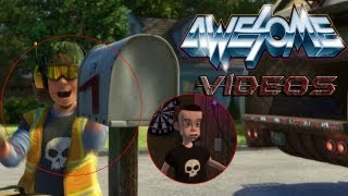 Toy Story 3 Easter Egg (Sid appears as a garbage man)