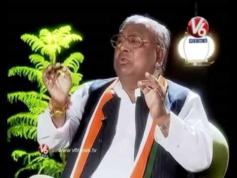 Kathi Karthika With Cogress Leader V Hanumantha Rao – VH – V6 Exclusive Interview Photo Image Pic