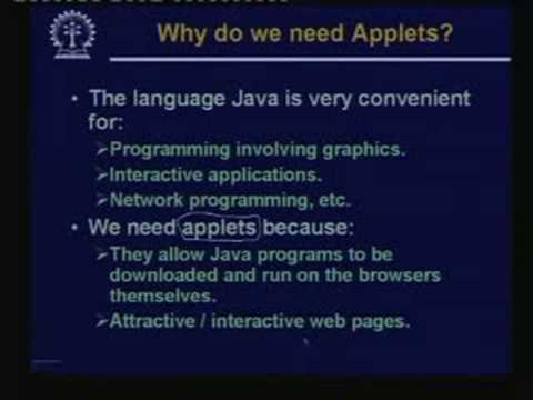 Lecture -28  Java Applets -Part:I