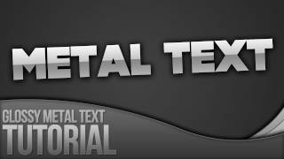 Photoshop Tutorial_ Creating Glossy Metal Text