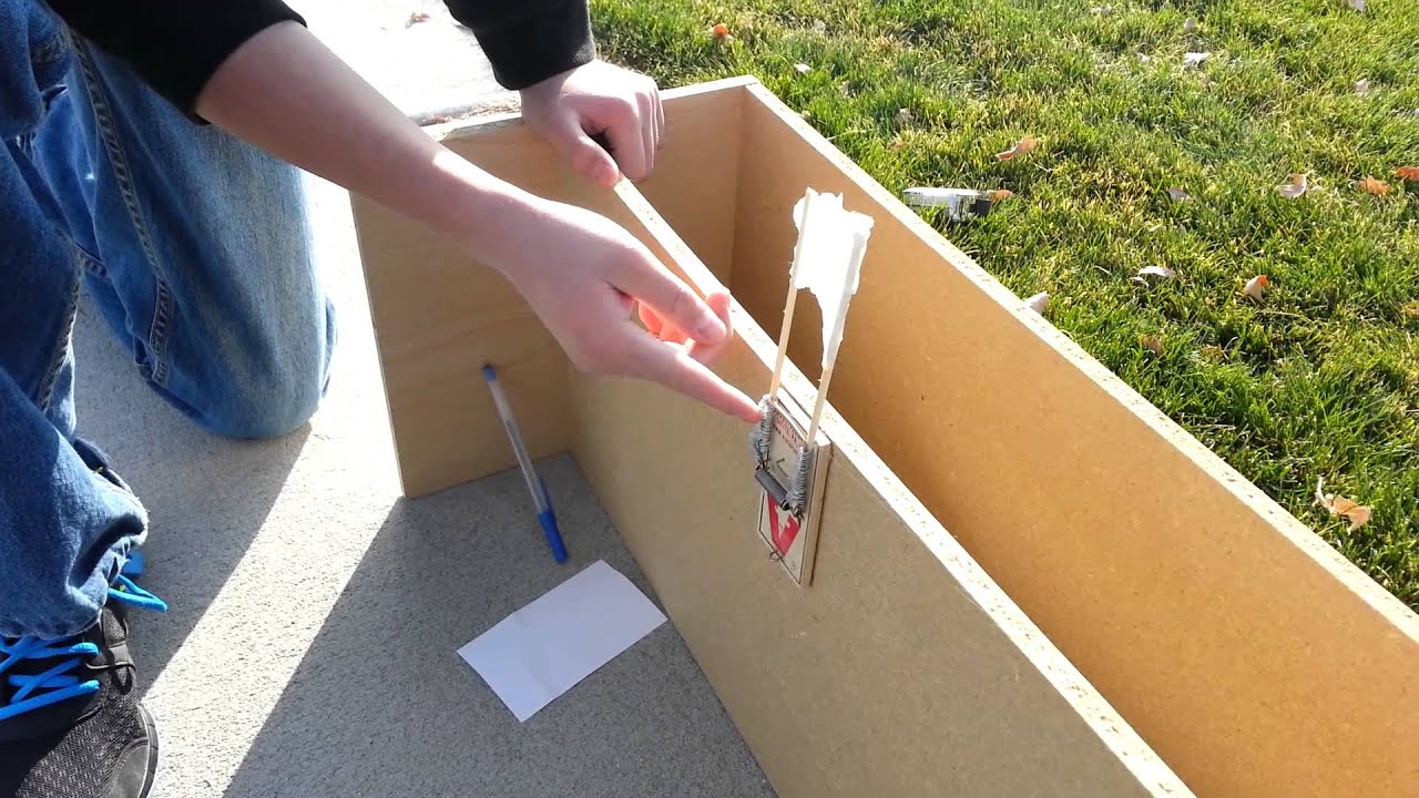 how to make a catapult out of a mouse trap