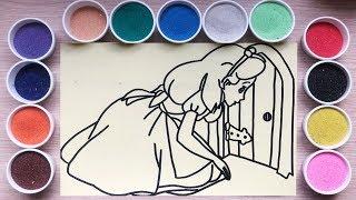 TÔ MÀU TRANH CÁT CÔNG CHÚA LỌ LEM - Learn Colors with Sand Painting Toys - Đồ chơi trẻ em Chim Xinh