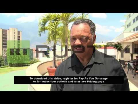 Venezuela: Rev. Jesse Jackson says US needs good relations with Venezuela to keep the oil flowing