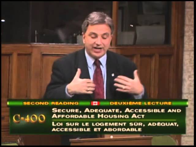 Frank's speech on Bill C400 Secure, Adequate, Accessible and Affordable Housing Act