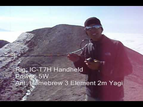 Ham Radio on Mt. St. Helens Summit