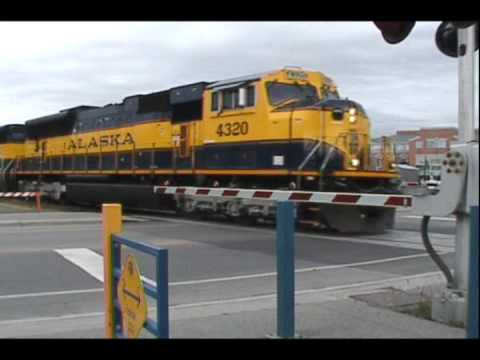 200th VIDEO!! Alaska SD70MAC 4320 Leads the Denali Star, Anchorage, Alaska, GREAT K5LA!
