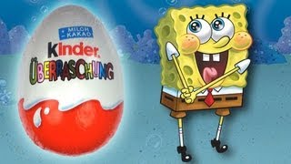 SPONGEBOB Kinder Surprise Unboxing