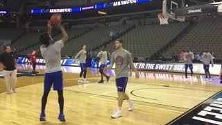 A peek inside of KU's basketball practice in Omaha