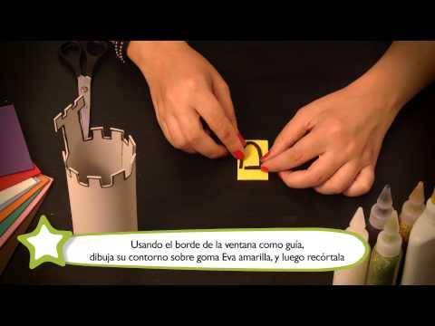 Cómo hacer un porta lápices : Manualidades para niños en goma Eva
