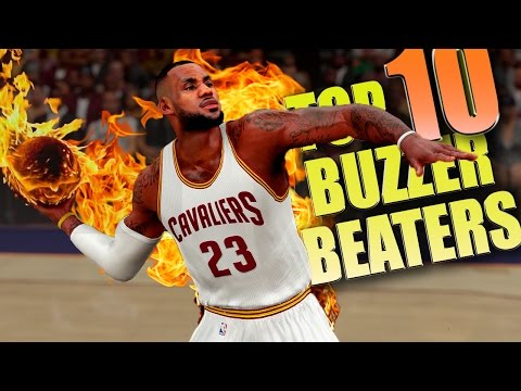 NBA 2K16 TOP 10 BUZZER BEATERS & Game Winning Shots #2