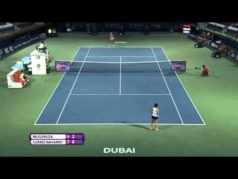 Garbine Muguruza vs Carla Suarez Navarro Highlights HD 1/4 DUBAI 19 02 2015