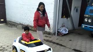 Small baby car with remote control