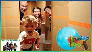 Box Fort Maze Don't Choose The Wrong Door Tag / That YouTub3 Family I Family Channel
