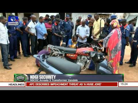 NSCDC Arrests 5 Transformer Vandals In Kogi