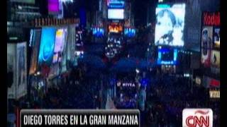 DIEGO TORRES EN TIME SQUARE -NEW YEAR 2012