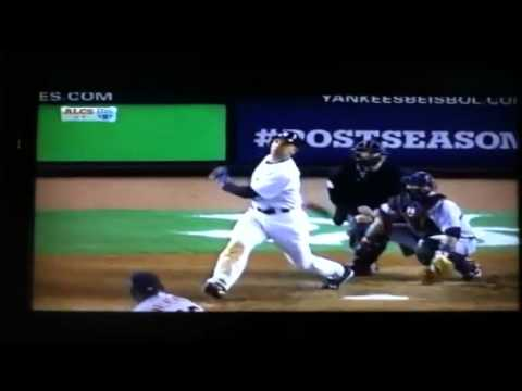Raul ibanez hits a home run to tie game bottom 9