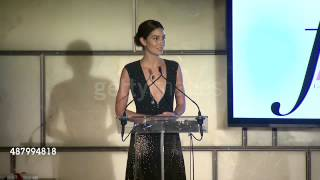 Lily Aldridge presents Taylor Hill with Fashion Media Award for Model Of The Year, Social Media