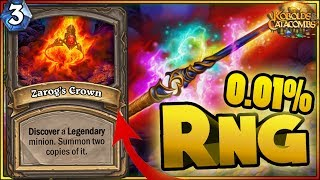 Hearthstone - 0,01% RNG Moments - Kobolds and Catacombs Funny Rng Moments