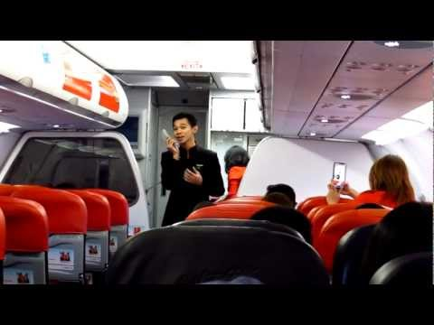 AirAsia Singing Flight Attendant