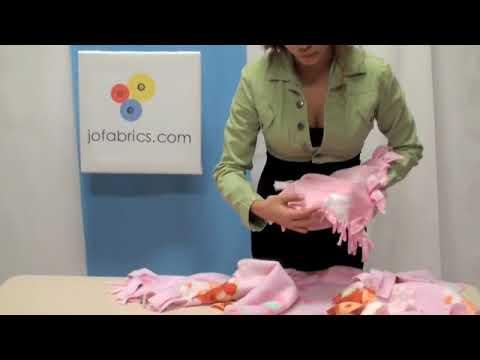 Sugerencia de J&O Fabrics: Cómo hacer una manta sin costura y con flecos