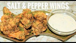 Air Fried Salt And Pepper Chicken Wings -  Air Fryer Chicken Wings