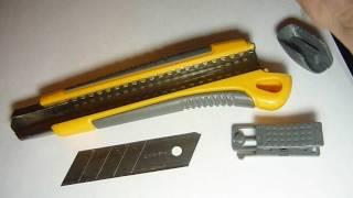 Заменить лезвие канцелярского ножа - как обновить лезвие в ноже - ViYoutube