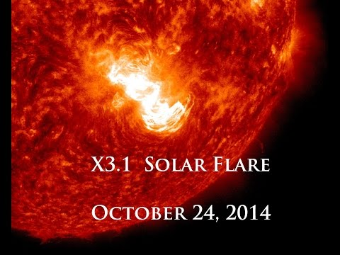 10/24/2014 -- X3.1 Solar Flare -- Long Duration Event -- Earth Facing (Multiple views from SDO)