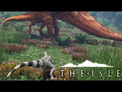 The Isle - TALL GRASS PREY STALKING, RAPTOR + SUCHOMIMUS (Funny Moments Gameplay)