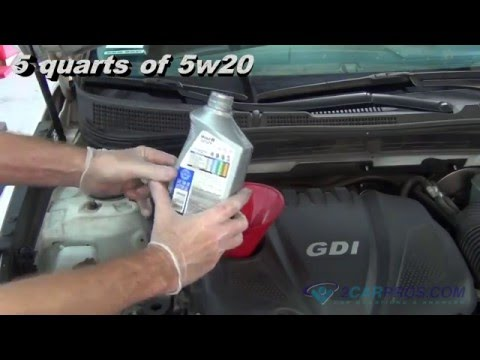 Oil Change & Filter Replacement Hyundai Sonata 2009-2014