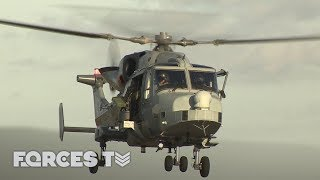 Going Behind Enemy Lines With Apache And Wildcat Helicopters | Forces TV