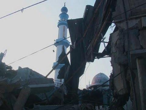 Raw: Israel Hits Gaza Targets, Destroys Mosques
