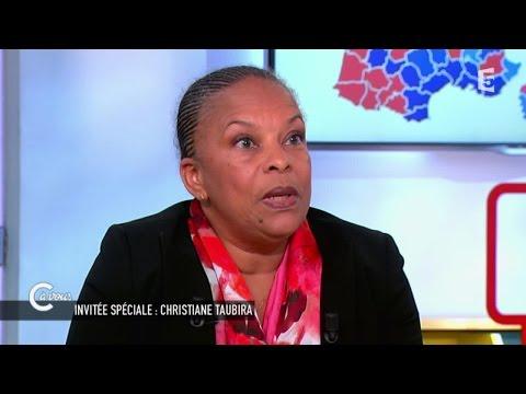 Christiane Taubira revient sur les départementales - C à vous - 23/03/2015