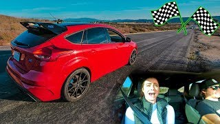 TESTING FOCUS RS LAUNCH CONTROL! *GIRLFRIEND REACTION*