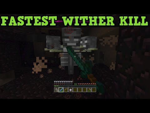 Minecraft Xbox 360 + PS3 How To Kill The Wither - IN 5 SECONDS