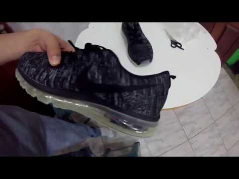 Unboxing Réplica Nike Air Max Flyknit + On Feet