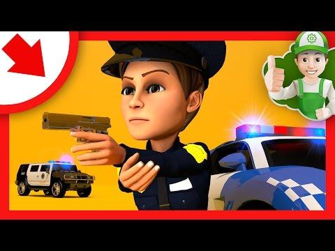 Мультики про машинки Побег Резкого с полицейского участка и полицейская погоня Мультики про машинки
