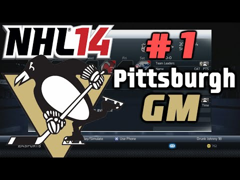 NHL 14: GM Mode Commentary - Pittsburgh ep. 1
