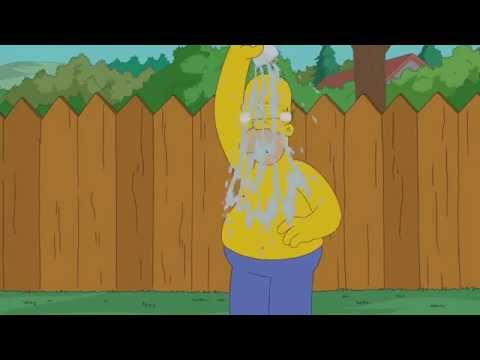 Simpsons ALS Ice Bucket Challenge  THE SIMPSONS  ANIMATION on FOX
