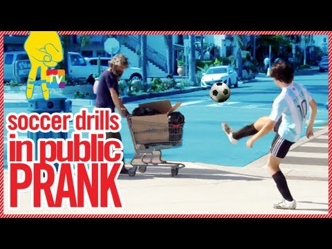 Soccer Drills in Public PRANK