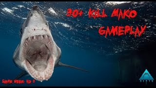 Depth |Gameplay| 30+ Kills Shark Game (Mako)