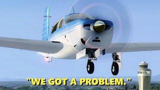 Pilot Has GEAR FAILURE in Flight Simulator X (Multiplayer)
