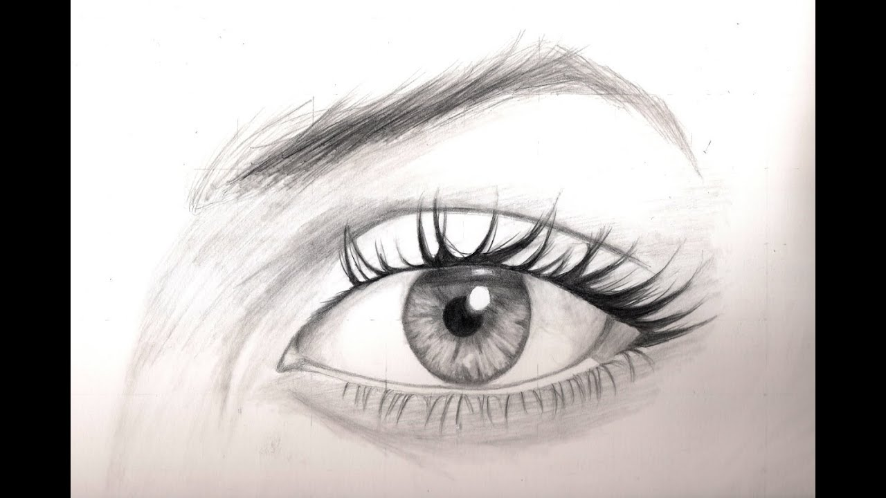Realistic Drawing Tutorial 8/8 How To Draw The Eyes ...