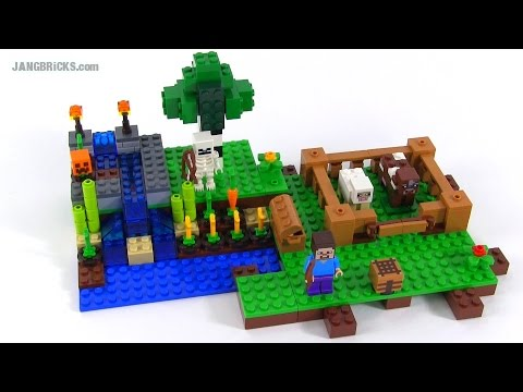 LEGO Minecraft: The Farm review!  set 21114