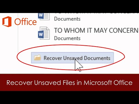 How To Recover Unsaved Files in Word, Excel and PowerPoint 2016 Tutorial #1