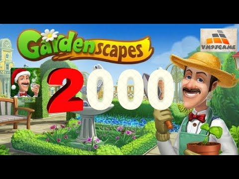 GARDENSCAPES Gameplay - Level 2000 (iOS, Android)