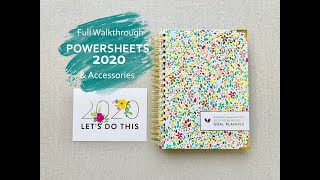 2020 POWERSHEETS GOAL PLANNER & Accessories!