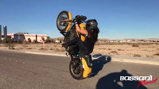 Promotional Video of Smashstunts on the Sportster and Grom with Bassani Xhaust