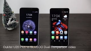 BLUBOO Dual vs Oukitel U20 Plus - Hands on comparsion video