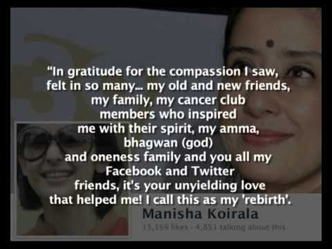 Manisha Koirala Cancer Free video