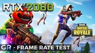 RTX 2080 FORTNITE GAMEPLAY | 1080p/1440p/Epic/Max Settings | Frame Rate Benchmark Test